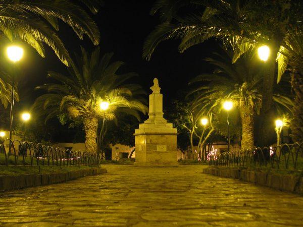 Antonio Nariño Park. Historical-Center-of-Villa-de-Leyva Colombian Highlands.