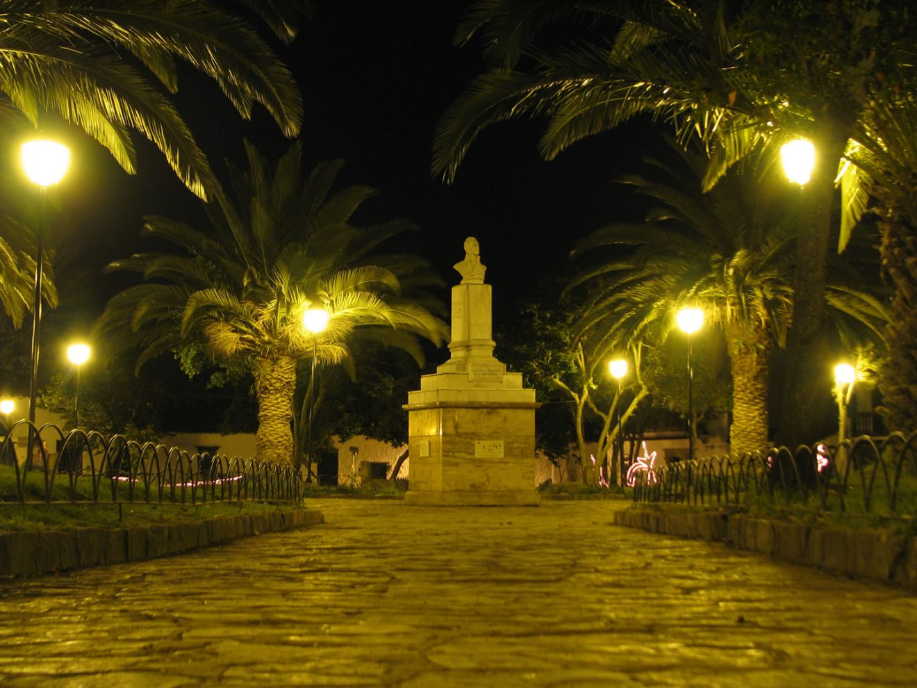 Antonio Nariño Park. Historical-Center-of-Villa-de-Leyva Colombian Highlands.