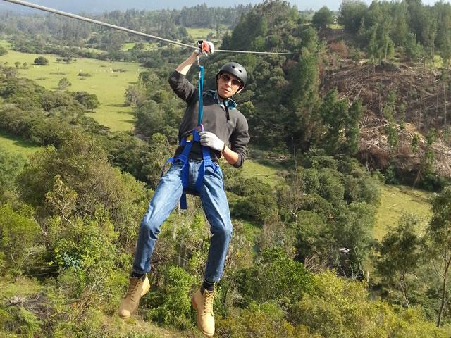 Tirolesa in Villa de Leyva. Colombian Highlands 3