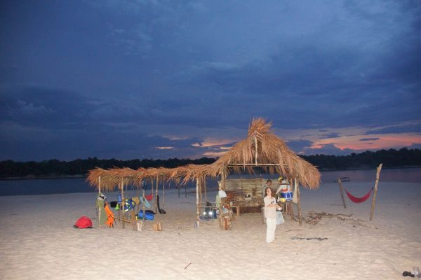Camping on the Inirida Beaches, Guiania Colombia, Ecotour with Colombian Highlands