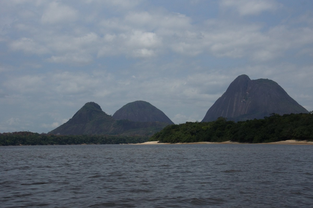 Getting close from the Inirida River to Mavecure Monoliths, Guainia Colombia