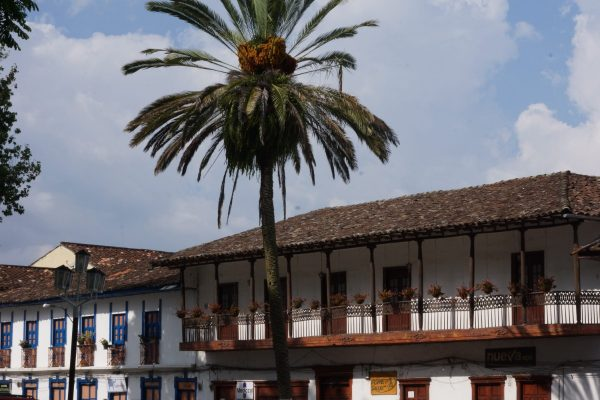 Main Square in Salamina, Caldas. Tour with Colombian Highlands