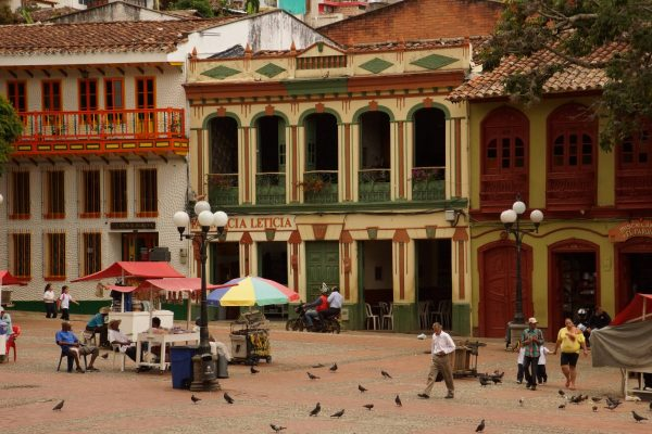 Main square of Jerico, Antioquia, Colombia, Tours with Colombian Highlands